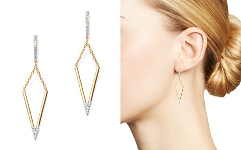 Bloomingdale's Diamond Geometric Drop Earrings in 14K Yellow Gold, 0.10 ct. t.w. - 100% Exclusive_2
