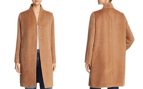 Eileen Fisher Stand Collar Textured Coat - Bloomingdale's_2