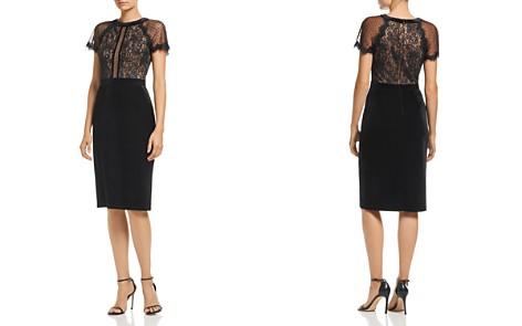 Tadashi Shoji Velvet & Lace Short-Sleeve Dress - Bloomingdale's_2