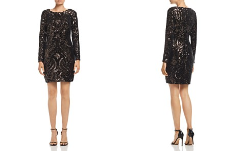 AQUA Sequin Scroll Mini Dress - 100% Exclusive - Bloomingdale's_2