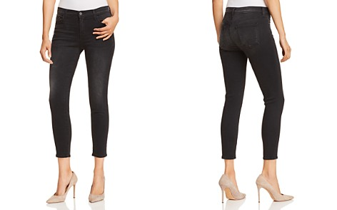 J Brand Mid Rise Cropped Skinny Jeans in Nevermore - Bloomingdale's_2