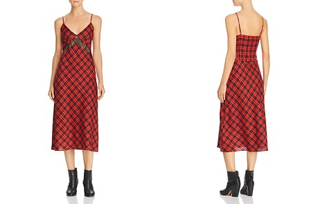 Divine Heritage Plaid & Lace Slip Dress - Bloomingdale's_2