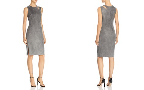 MILLY Fractured Faux-Suede Dress - Bloomingdale's_2