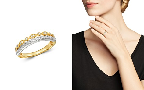 Bloomingdale's Diamond Two-Tier Band Ring in 14K White Gold & 14K Yellow Gold, 0.25 ct. t.w. - 100% Exclusive_2
