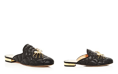 Charlotte Olympia Women's Web-Quilted Leather Mules - Bloomingdale's_2