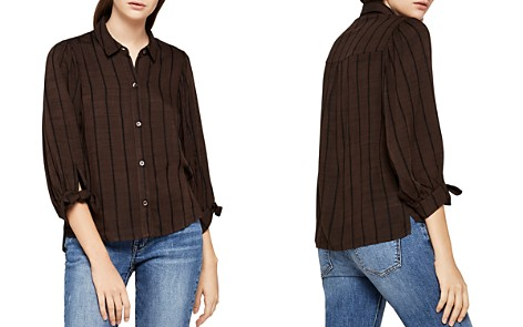 BCBGeneration Tie-Cuff Striped Shirt - Bloomingdale's_2