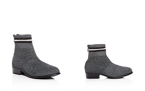 STEVE MADDEN Girls' Gallery Glitter Knit Low-Heel Booties - Little Kid, Big Kid - Bloomingdale's_2