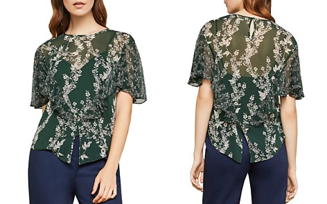 BCBGMAXAZRIA Ruffled Botanical Print Top - Bloomingdale's_2