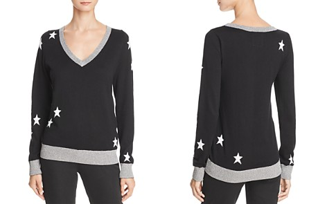 CHASER Metallic-Trim Star Sweater - Bloomingdale's_2