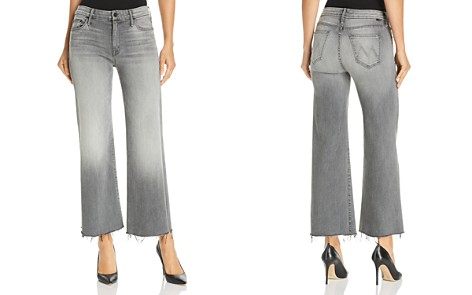 MOTHER The Roller Ankle Fray Wide-Leg Jeans in Super Moon - Bloomingdale's_2