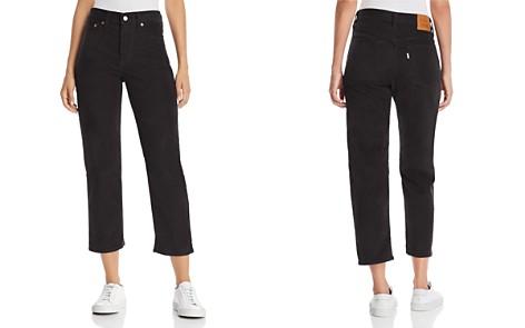 Levi's Wedgie Straight Corduroy Jeans in Black - Bloomingdale's_2