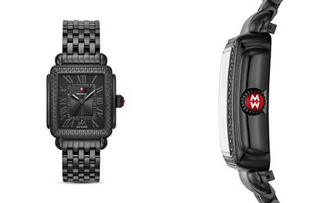 MICHELE Black Deco Watch, 33mm x 35mm - Bloomingdale's_2