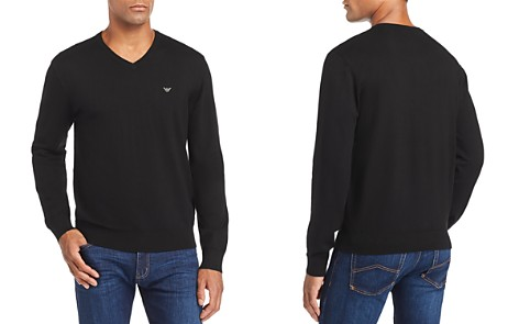 Emporio Armani Knit V-Neck Sweater - Bloomingdale's_2