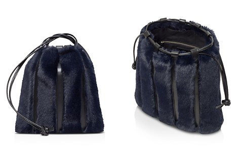 VASIC Maiden Small Leather & Faux Fur Bucket Bag - Bloomingdale's_2