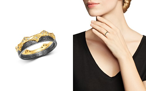 Armenta 18K Yellow Gold & Blackened Sterling Silver Old World Champagne Diamond Wide Band Ring - Bloomingdale's_2