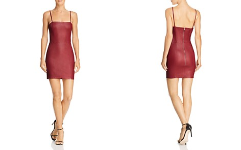 T by Alexander Wang Leather Mini Dress - Bloomingdale's_2