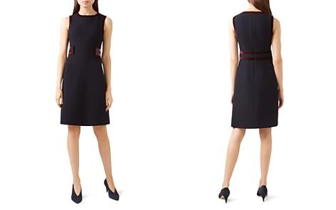 HOBBS LONDON Celia Velvet-Trim Dress - 100% Exclusive - Bloomingdale's_2