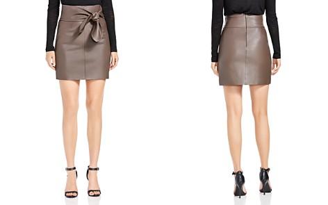 HALSTON HERITAGE Leather Tie-Waist Mini Skirt - Bloomingdale's_2