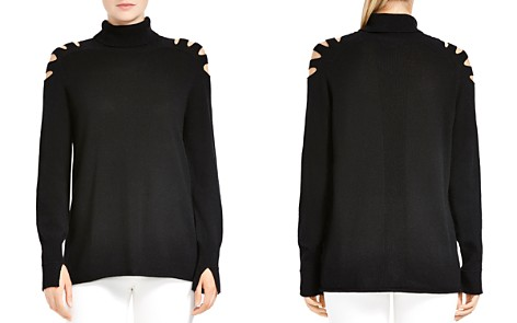 HALSTON HERITAGE Cutout Turtleneck Sweater - Bloomingdale's_2
