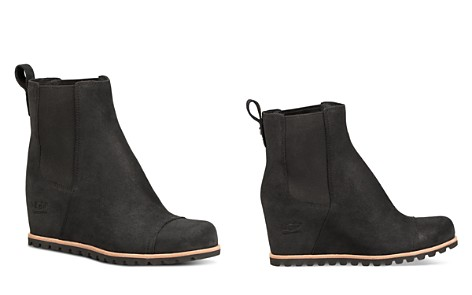 UGG® Women's Pax Round Toe Leather Wedge Booties - Bloomingdale's_2