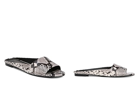 Via Spiga Women's Hana Open Toe Snakeskin-Embossed Leather Slide Sandals - Bloomingdale's_2