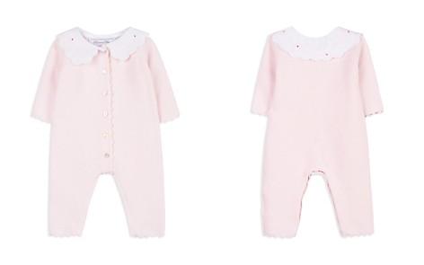 Tartine et Chocolat Girls' Poplin Collar Textured Knit Playsuit - Baby - Bloomingdale's_2
