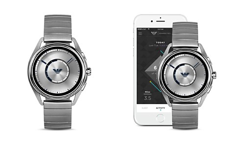 Emporio Armani Stainless Steel Mono-Link Bracelet Touchscreen Smartwatch, 43mm - Bloomingdale's_2