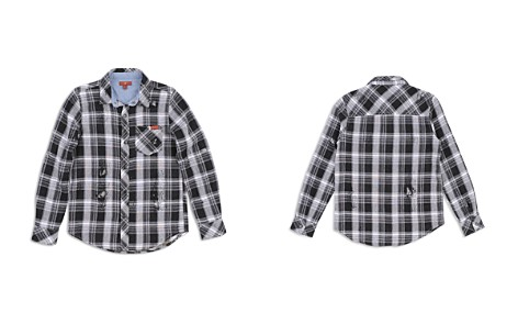 7 For All Mankind Boys' Distressed Plaid Shirt - Little Kid - Bloomingdale's_2