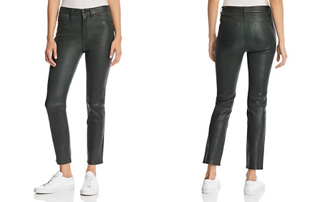 rag & bone/JEAN Leather Ankle Cigarette Pants - Bloomingdale's_2
