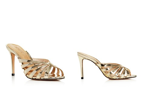SCHUTZ Women's Beylah Metallic Leather Slide Sandals - Bloomingdale's_2