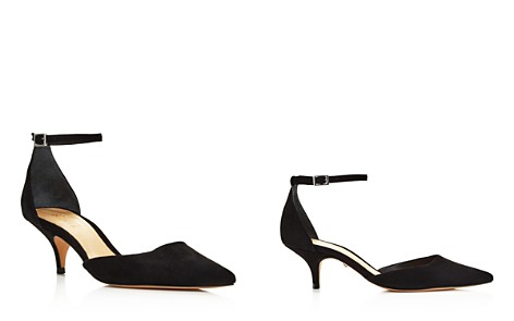 SCHUTZ Women's Kamilli Suede Pointed Toe Ankle Strap Pumps - Bloomingdale's_2