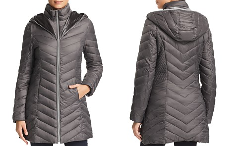 Laundry by Shelli Segal Mixed Quilt Puffer Coat - Bloomingdale's_2