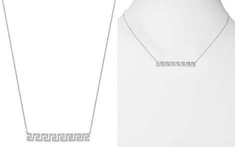 Bloomingdale's Diamond Geometric Bar Necklace in 14K White Gold, 0.4 ct. t.w. - 100% Exclusive_2