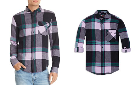 Scotch & Soda Plaid Double-Faced Regular Fit Flannel Shirt - Bloomingdale's_2