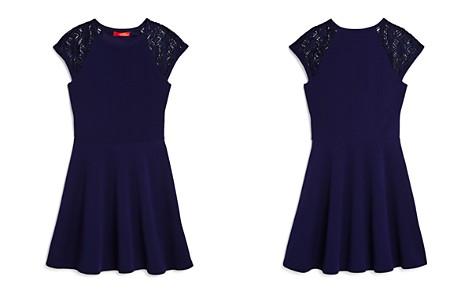 AQUA Girls' Textured Lace-Sleeve Dress, Big Kid - 100% Exclusive - Bloomingdale's_2