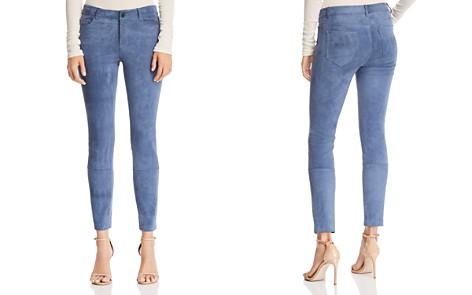 Theory Suede Skinny Pants - Bloomingdale's_2