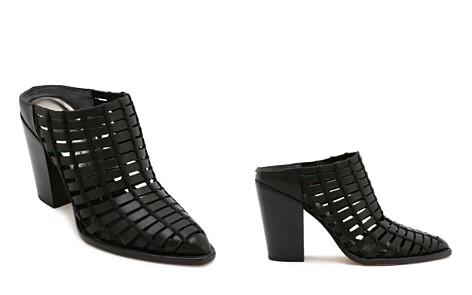 Dolce Vita Women's Kacie Caged Leather Block Heel Mules - Bloomingdale's_2