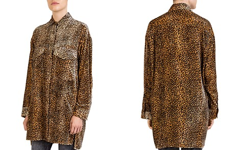 The Kooples Leopard-Print Velvet Tunic Shirt - Bloomingdale's_2