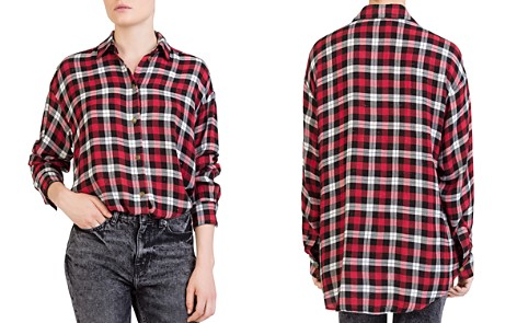 The Kooples Centella Plaid Shirt - Bloomingdale's_2