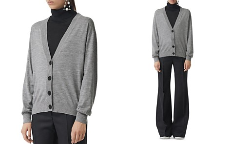 Burberry Dornoch Elbow Patch Cardigan - Bloomingdale's_2