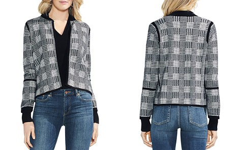 VINCE CAMUTO Plaid Jacquard Open Cardigan - Bloomingdale's_2