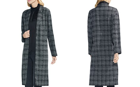 VINCE CAMUTO Plaid Open-Front Duster Jacket - Bloomingdale's_2
