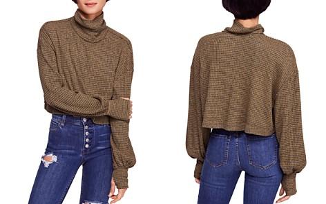 Free People BK Cropped Turtleneck Sweater - Bloomingdale's_2