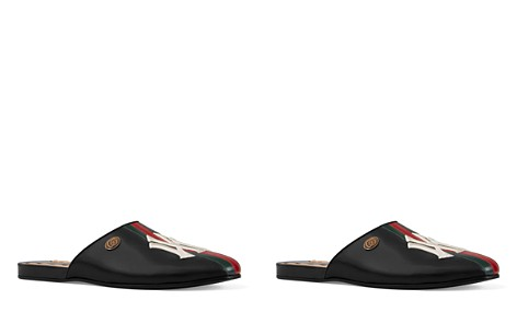 Gucci Men's Leather New York Yankees Slippers - Bloomingdale's_2