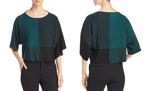 Eileen Fisher Color Block Crop Sweater - Bloomingdale's_2