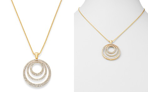 Bloomingdale's Diamond Circle Pendant Necklace in 14K Yellow Gold, 2.0 ct. t.w. - 100% Exclusive_2