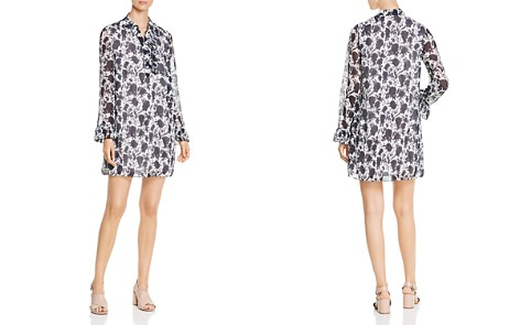 Tory Burch Livia Textured Silk Print Dress - Bloomingdale's_2