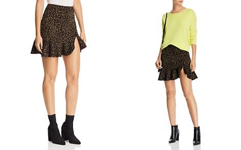 AQUA Flocked Leopard Print Mini Skirt - 100% Exclusive - Bloomingdale's_2