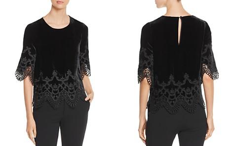 Kobi Halperin Meredith Embroidered Velvet Blouse - Bloomingdale's_2