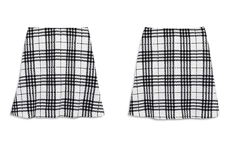 AQUA Girls' Textured Plaid Skirt, Big Kid - 100% Exclusive - Bloomingdale's_2